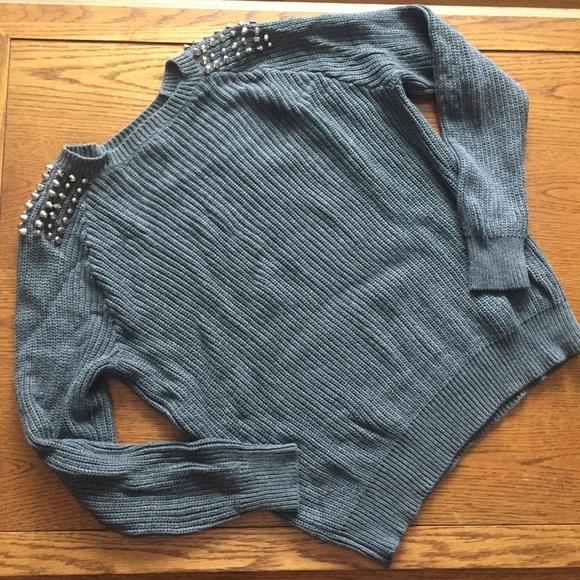 Forever 21 Tops - Studded Oversized Sweater